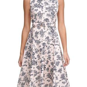 Tommy Hilfiger Sleeveless Floral Cotton Midi Dress